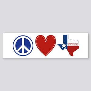 Peace Love Texas Sticker (Bumper)